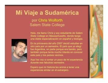 Mi Viaje a Sudamérica j