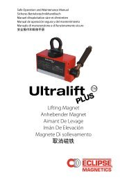 Ultralift Plus Manual - Eclipse Magnetics