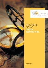 analysen & trends sparen – aber richtig! - ADIG Fondsvertrieb GmbH