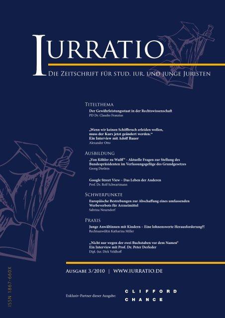 Die Zeitschrift für stud. iur. und junge Juristen - Iurratio