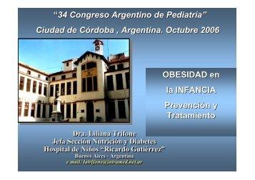 """OBESIDAD en la INFANCIA Prevención y Tratamiento """"34 Congreso ..."""