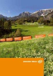 Sustainability Report 2008