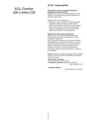 ECL Comfort 300 z karta C25 - Danfoss