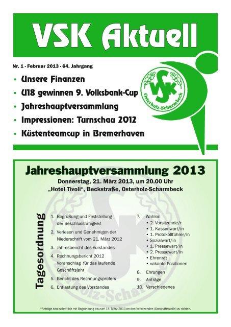 Tagesordnung - VSK Osterholz