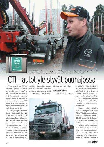 CTI - autot yleistyvät puunajossa