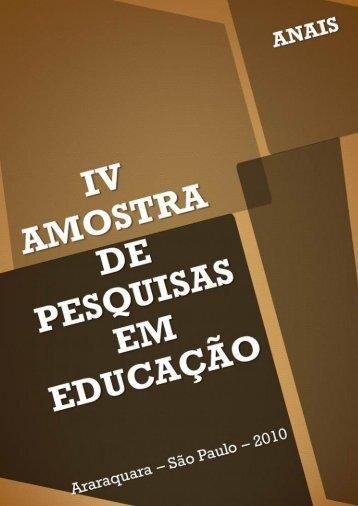 anais 2010 - Faculdade de Ciências e Letras - Unesp