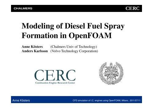 Modeling of Diesel Fuel Spray Formation in OpenFOAM - Internal