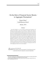 On the Role of Financial Sector Shocks to Aggregate Fluctuations