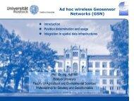 Ad hoc wireless Geosensor Networks (GSN) - Sektion Geoinformatik ...