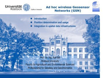 Ad hoc wireless Geosensor Networks (GSN) - Sektion Geoinformatik ...