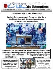 Bulletin de liaison n°005 - Caritas Goma