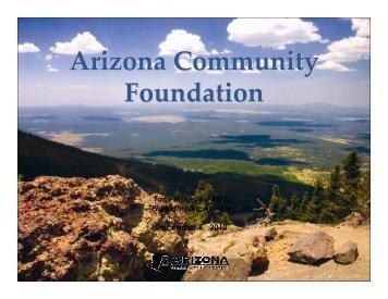 Arizona Community Foundation - Alliance of Arizona Nonprofits