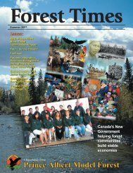 Canada's New Government helping forest communities build stable ...