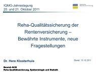 Reha-Qualitätssicherung der Rentenversicherung - Bewährte ...