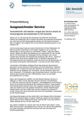 Ausgezeichneter Service - MAN Truck und Bus Deutschland GmbH ...