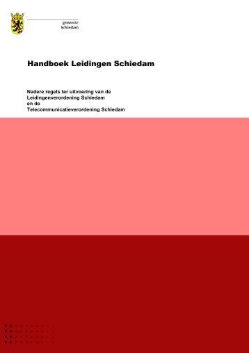 Handboek Leidingen Schiedam - Gemeente Schiedam