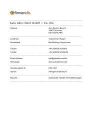 Auto Aktiv Nord  GmbH + Co. KG;Grimmen: Adresse + ... - Firmendb