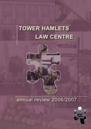 specialist advice services - Tower Hamlets Law Centre