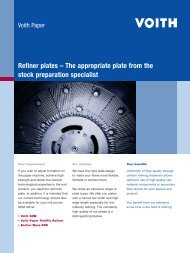 Refiner plates – The appropriate plate from the stock ... - Voith