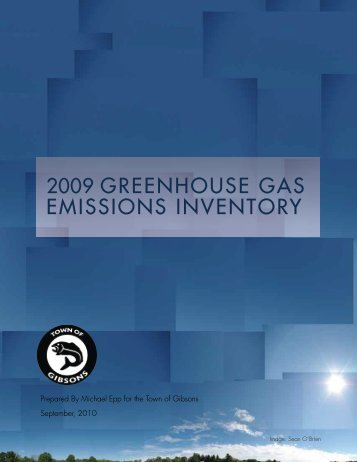 2009 Corporate Greenhouse Gas Emissions Inventory - the Town of ...