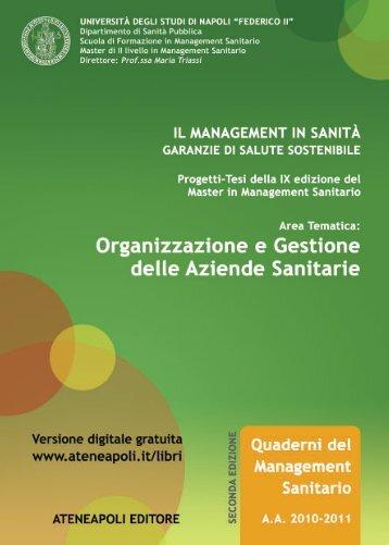 Organizzazione e Gestione delle Aziende Sanitarie - Ateneapoli