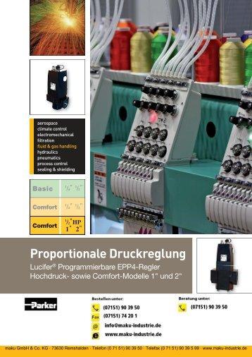 Katalog: 2202/DE EPP4 Proportional Druckregelung - Parker