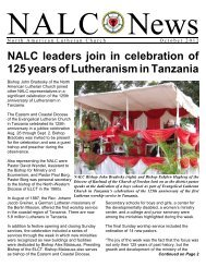 October 2012 - North American Lutheran Church