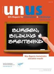 UNUS Ausgabe 03 / 2012 - Gewerbeverband Bayern eV