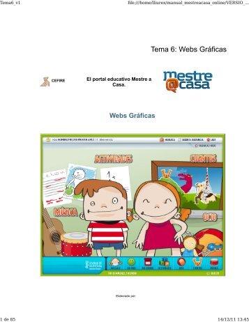 Tema 6: Webs Gráficas - Cefire