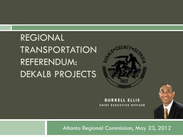 DeKalb - Regional Transportation Referendum