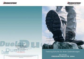 die dueler- produktpalette 2004 - Bridgestone EUROPE