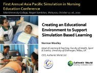 Creating an Educational Environment to Support Simulation Based ...