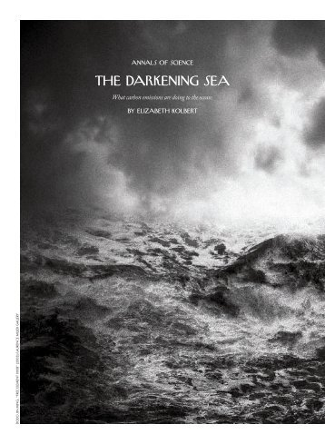 The darkening sea - Earth & Planetary Sciences