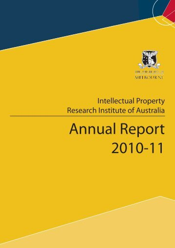 Annual Report 2010-11 - Intellectual Property Research Institute of ...
