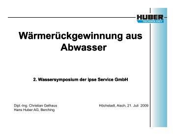 Wärmerückgewinnung aus Abwasser - ipse-service.de