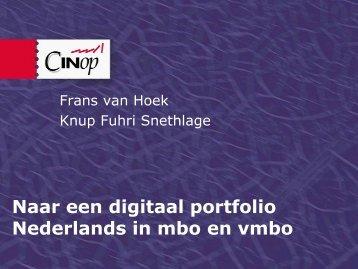Naar een digitaal portfolio Nederlands in mbo en vmbo