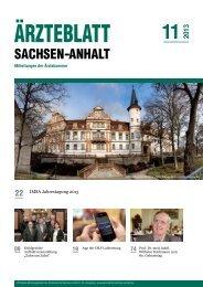 PDF-Download (4,5 MB) - Ärzteblatt Sachsen-Anhalt