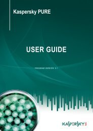 Kaspersky PURE User Guide - Kaspersky Lab