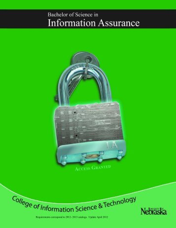 Information Assurance Guide - College of Information Science and ...