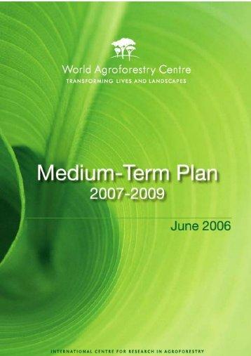 Medium-Term Plan 2007-2009
