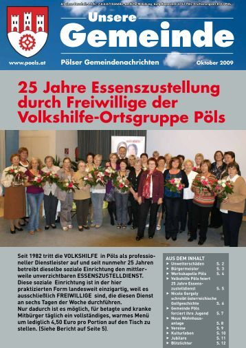 25 Jahre Essenszustellung durch Freiwillige der ... - Gemeinde Pöls