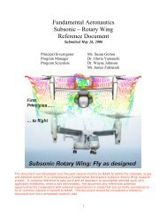 + Subsonic Rotary Wing - CAFE Foundation