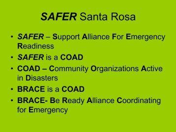 SAFER Santa Rosa - Santa Rosa County