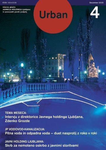 Urban december 2005 - Javni holding Ljubljana