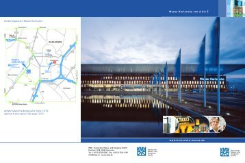 www.karlsruhe-messe.de Messe Karlsruhe von A bis Z Anfahrt ...
