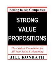 Strong Value Propositions - Action Plan Marketing