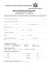 Business Credit Account Application Form - ValuePrint Centre
