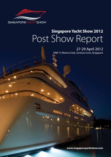 Post Show Report - Singapore Yacht Show