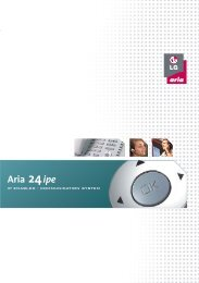 LG Aria 24 home and small office telephone system brochure.