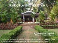 Aquatic Plants of India - Part I - National Biodiversity Authority